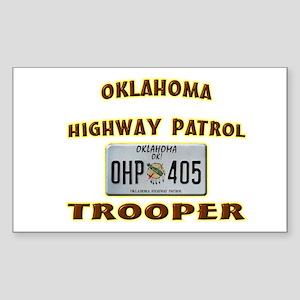 Oklahoma Highway Patrol Sticker (Rectangle)