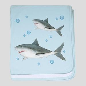 Shark baby blanket