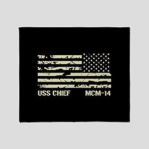 USS Chief Throw Blanket