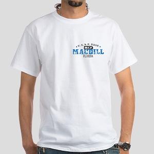 MacDill Air Force Base White T-Shirt
