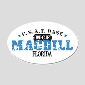 MacDill Air Force Base 22x14 Oval Wall Peel