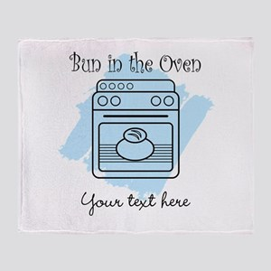 Bun in the Oven (blue) Throw Blanket