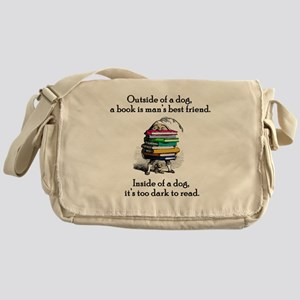 A Book is Man's Best Friend Messenger Bag