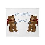 Teddy Bear Fencers Throw Blanket