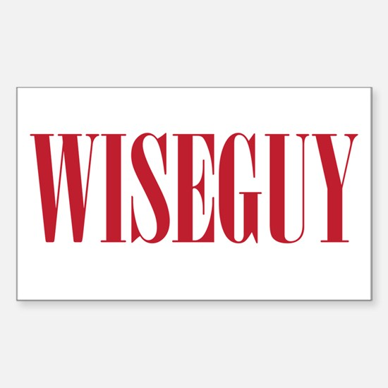 WISEGUY Sticker (Rectangle)