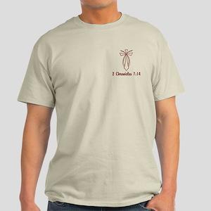 2 Chr 7:14 Cross Fish - Light T-Shirt