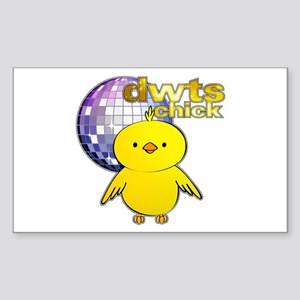 DWTS Chick Rectangle Sticker