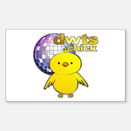 DWTS Chick Rectangle Decal