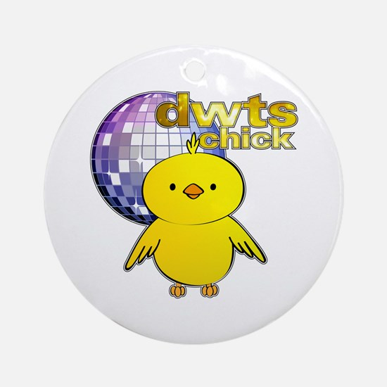DWTS Chick Round Ornament