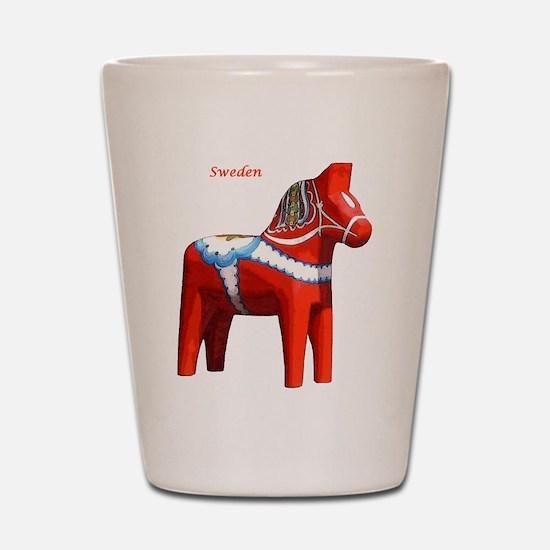 Dala Horse Shot Glass