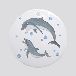 Dolphin Ornament (Round)