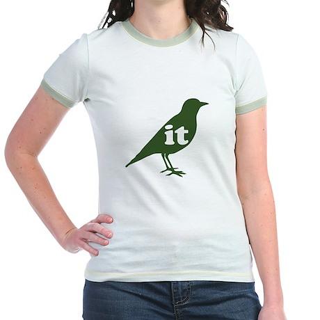 IT ON A BIRD Jr. Ringer T-Shirt