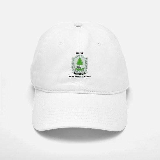 DUI - Maine Army National Guard with text Baseball Baseball Cap