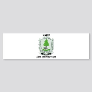 DUI - Maine Army National Guard with text Sticker