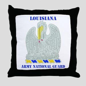 DUI-LOUISIANA ANG WITH TEXT Throw Pillow