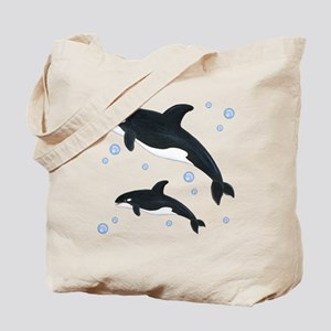 Orca Whale Tote Bag