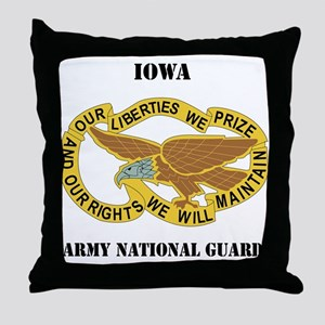 DUI-IOWA ANG WITH TEXT Throw Pillow