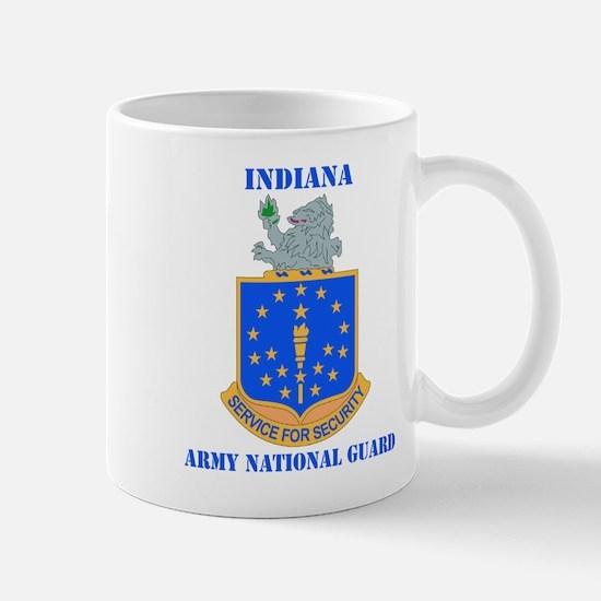DUI-INDIANA ARMY NATIONAL GUARD WITH TEXT Mug