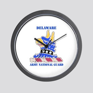 DUI-DELAWARE ANG WITH TEXT Wall Clock