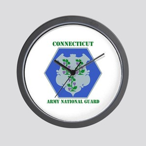 DUI-CONNECTICUT ANG WITH TEXT Wall Clock