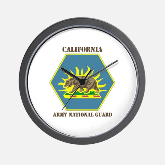 DUI-CALIFORNIA ANG WITH TEXT Wall Clock