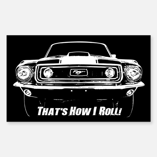 How I Roll - Mustang Boss Sticker (Rectangle)