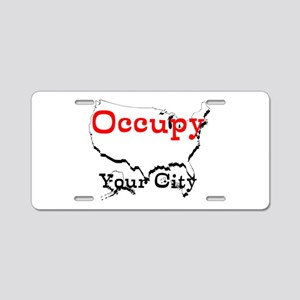 Custom Occupy Your City Aluminum License Plate