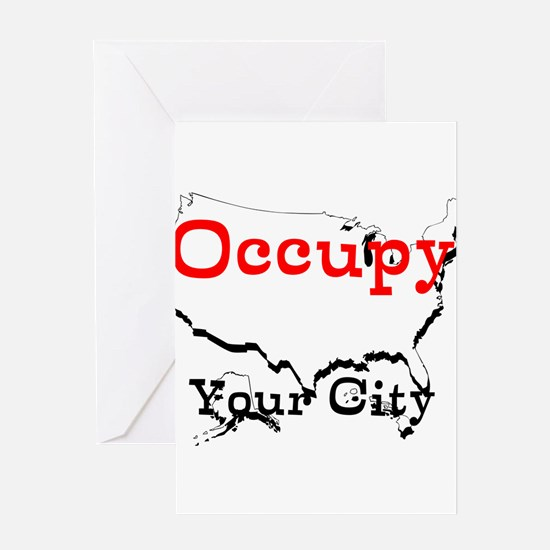 Custom Occupy Your City Greeting Card