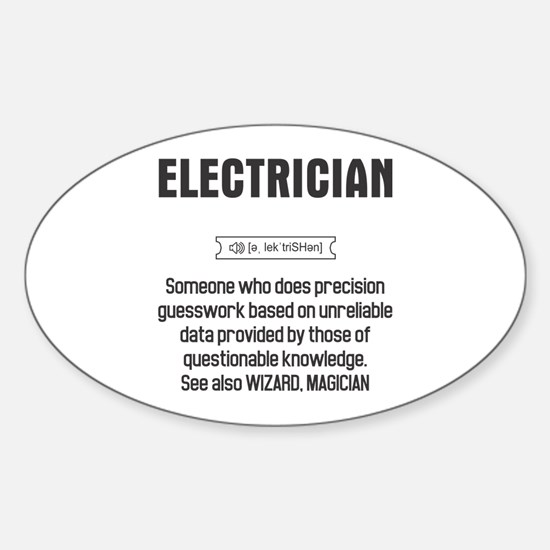 Funny Electrician Definition Decal