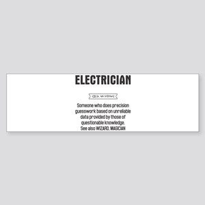 Funny Electrician Definition Bumper Sticker