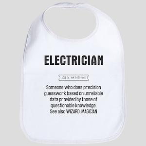 Funny Electrician Definition Baby Bib