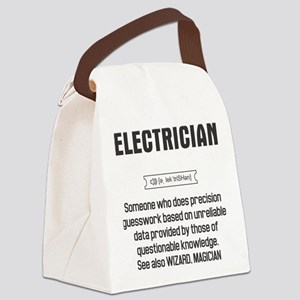 Funny Electrician Definition Canvas Lunch Bag