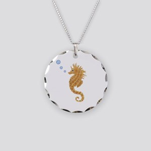 Seahorse Necklace Circle Charm