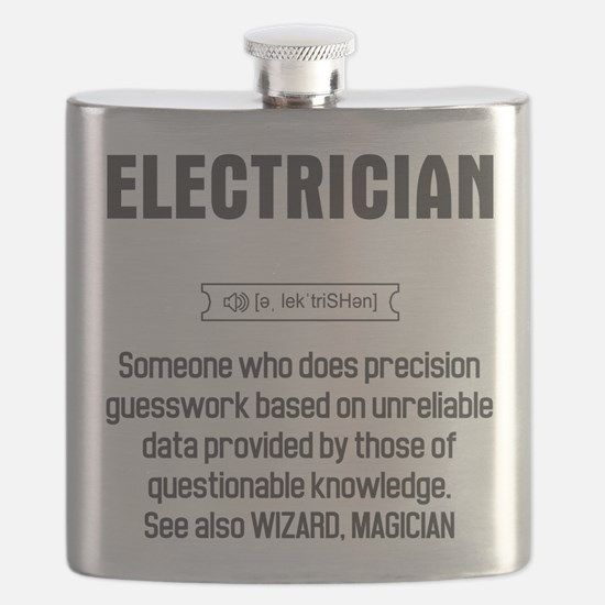 Funny Electrician Definition Flask