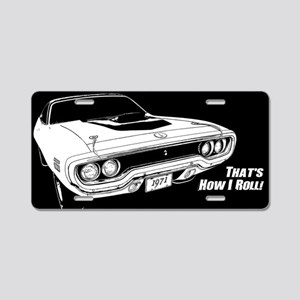 How I Roll - Road Runner Aluminum License Plate