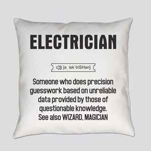 Funny Electrician Definition Everyday Pillow