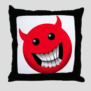 Devilish Smile Throw Pillow