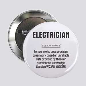 """Funny Electrician Definition 2.25"""" Button"""