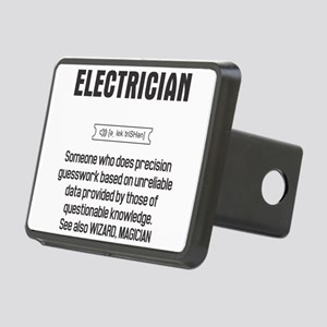Funny Electrician Definiti Rectangular Hitch Cover