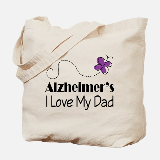 Alzheimer's Love My Dad Tote Bag