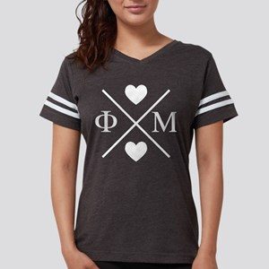 Phi Mu Cross Womens Football T-Shirts