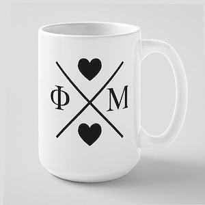 Phi Mu Cross 15 oz Ceramic Large Mug