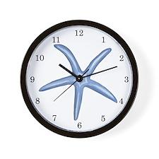 Blue Starfish Wall Clock