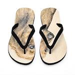 Dachshund (Longhaired) Flip Flops