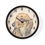 Dachshund (Longhaired) Wall Clock
