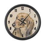 Dachshund (Longhaired) Large Wall Clock