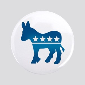 "Democrats Donkey 3.5"" Button"