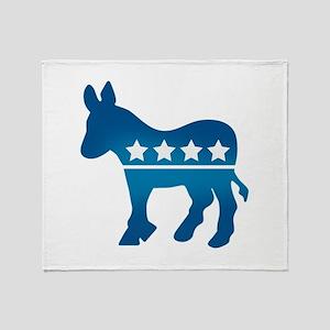 Democrats Donkey Throw Blanket