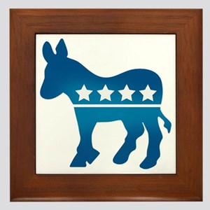 Democrats Donkey Framed Tile