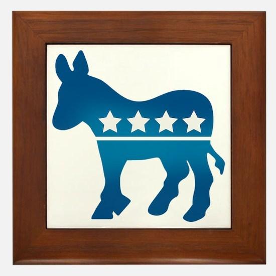 Democrats Donkey Framed Tile